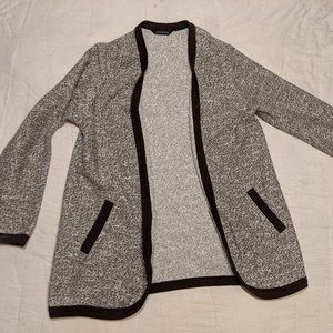 Land's End Tweed Gray and Black Cardigan